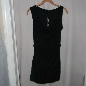 100% Modal Black Cowl Neck DANIOLA Maxi Dress S/P